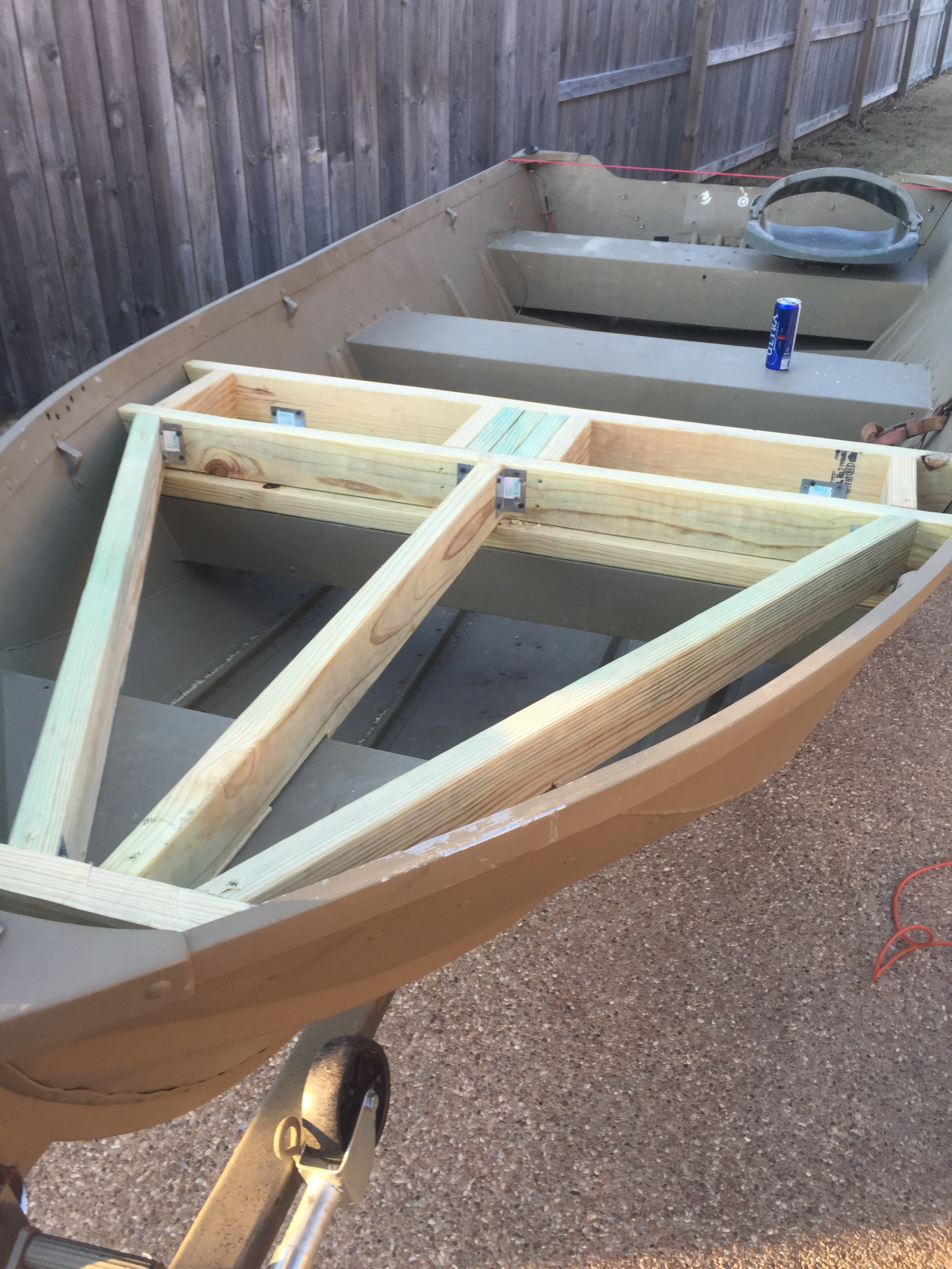 Jon Boat To Bass Boat Conversion Bass Boats Canoes